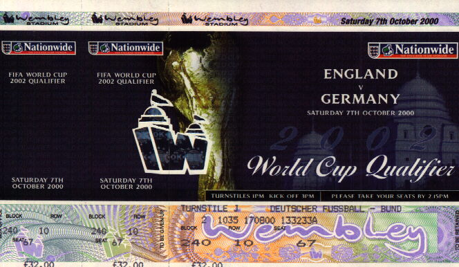 Germany v ENGLAND, 07.10.2000